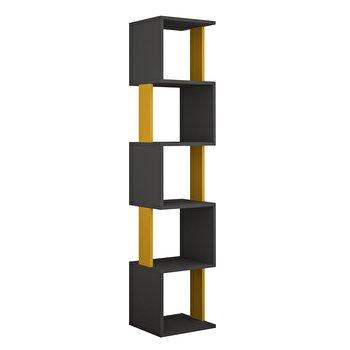 Corp biblioteca, Decortie, 161 x 35 x 30 cm, pal melaminat, 855DTE3702, Negru