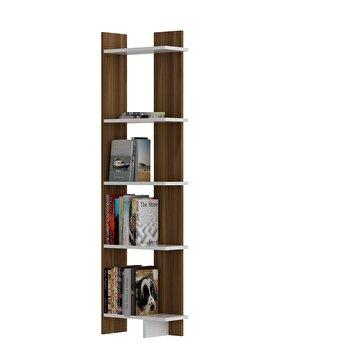 Biblioteca, Zena Home, 45 x 170 x 22 cm, pal melaminat, 875ZNA3602, Maro