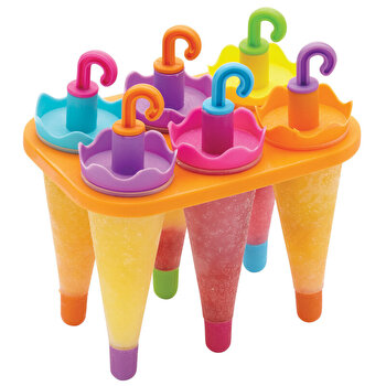 Set 6 forme inghetata Kitchen Craft, plastic, KCLOLLYUMB, Multicolor