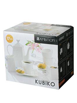 Set cafea 17 piese Ambition Kubiko, 61249, Alb