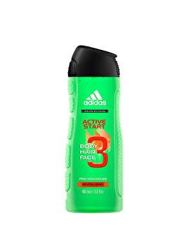 Gel de dus Adidas 3in1 Active Start, 400 g, pentru barbati imagine