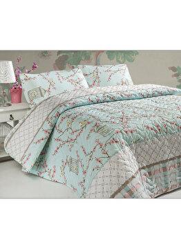 Set cuvertura de pat double si doua fete de perna - Birdcage, 200 x 220 cm