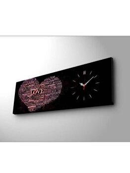 Tablou canvas cu ceas - Heart