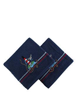 Set doua prosoape din bumbac - Marina, Hobby, 317HBY2216, Albastru