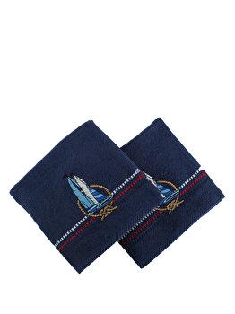 Set doua prosoape din bumbac - Marina, Hobby, 317HBY2218, Albastru