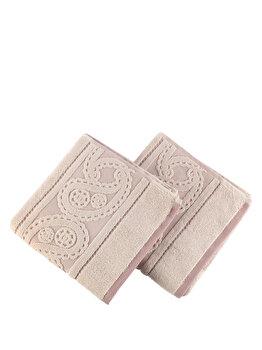 Set doua prosoape - Lace, Hobby, 317HBY1209, Roz elefant