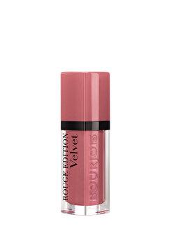 Ruj de buze Bourjois Rouge Edition Velvet, 09 Happy Nude Year, 7.7 ml imagine produs