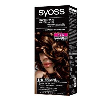 Vopsea de par permanenta Syoss Color Baseline, 5-8 Saten Aluna, 115 ml imagine produs