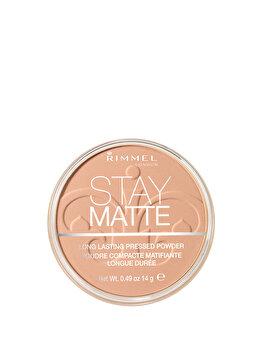 Pudra Rimmel London Stay Matte, 03 Peach Glow, 14 g imagine produs