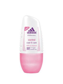 Deodorant roll-on Adidas Cool & Care Control 48h, 50 ml, pentru femei poza