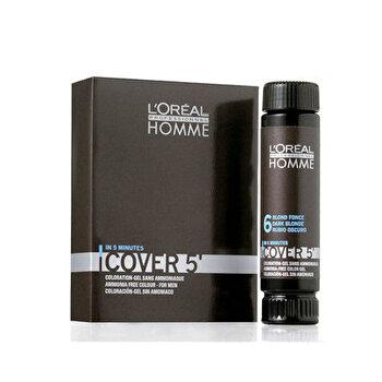 Vopsea de par Homme Cover 5 Hair Color, Saten inchis, 3x50 ml imagine produs