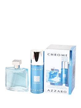 Set Cadou Azzaro Chrome (apa De Toaleta 100 Ml + Deospray 150 Ml), Pentru Barbati