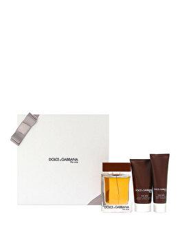 Set cadou Dolce & Gabbana The One (Apa de toaleta 100 ml + After shave balsam 75 ml + Gel de dus 50 ml), pentru barbati imagine produs