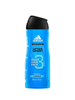 Gel de dus Adidas 3in1 After Sport, 400 g, pentru barbati poza