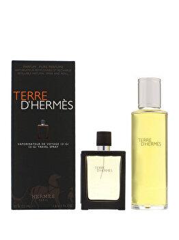Set cadou Hermes Terre D'Hermes (Rezerva parfum 30 ml + Rezerva parfum 125 ml), pentru barbati imagine produs