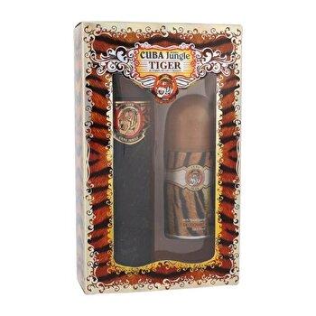 Set cadou Cuba Tiger (Apa de parfum 100 ml + Deodorant roll-on 50 ml), pentru femei imagine produs