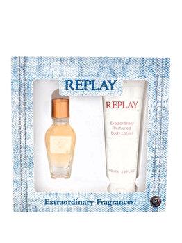 Set cadou Replay Jeans Original (Apa de toaleta 20 ml + Lotiune de corp 100 ml), pentru femei imagine produs