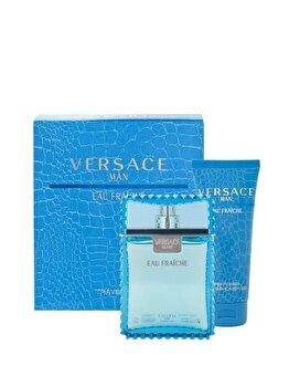 Set cadou Versace Man Eau Fraiche (Apa de toaleta 100 ml + Gel de dus 100 ml), pentru barbati poza