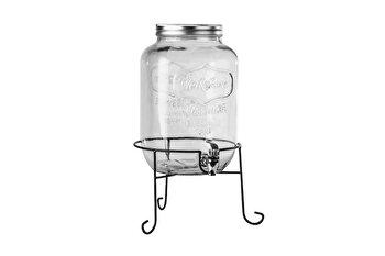 Borcan din sticla cu robinet si suport, Heinner, HR-MP-0143-4L, 8 L imagine