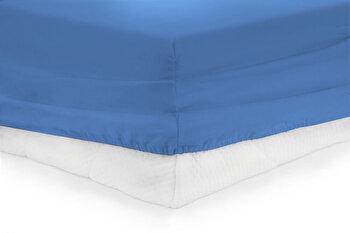 Cearceaf de pat cu elastic, Heinner, HR-ZSHEET-90BLUE, 90x200 cm, bumbac