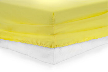 Cearceaf de pat cu elastic, Heinner, HR-ZSHEET-90YLW, 90x200 cm, bumbac imagine