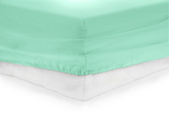 Cearceaf de pat cu elastic, Heinner, HR-ZSHEET-90TRQ, 90x200 cm, bumbac imagine