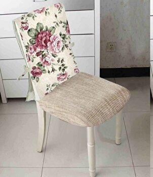 Husa spatar scaun, Heinner,HR-CHCOV-FLWPK, 47x100 cm , 100 procente Bumbac cu umplutura sintetica imagine