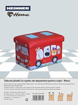 Taburet pliabil, Heinner, HR-KDFLD38-RED, 38x25x24.5 cm, 100 kg imagine
