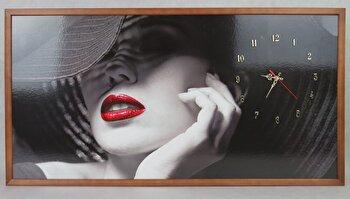 Tablou cu ceas inramat, Heinner, HR-F728-50/100, 50x100 cm, lemn masiv
