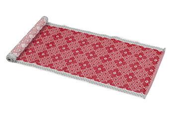 Traversa masa, Heinner, HR-RUN-RED01-120, 33 X 120 cm, bumbac imagine