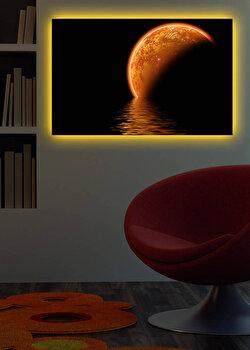 Tablou decorativ canvas cu leduri Shining, 239SHN1285, Multicolor