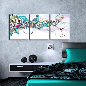 Tablou decorativ cu ceas Clock Art, 228CLA3603, Multicolor imagine