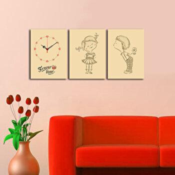 Tablou decorativ cu ceas Clockity, 248CTY1681, Multicolor imagine