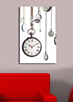 Tablou decorativ cu ceas Clock Art, 228CLA1694, Multicolor elefant