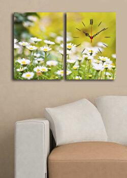 Tablou decorativ cu ceas Clock Art, 228CLA2644, Multicolor