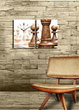 Tablou decorativ cu ceas Clock Art, 228CLA2630, Multicolor elefant