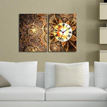 Tablou decorativ cu ceas Clockity, 248CTY1668, Multicolor imagine