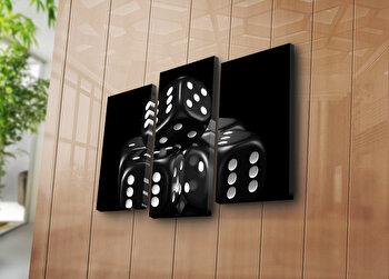 Tablou decorativ canvas (3 Piese) Horizon, 237HRZ1298, Multicolor elefant