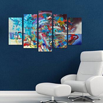 Tablou decorativ Charm, 223CHR1931, Multicolor elefant