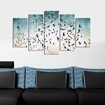 Tablou decorativ (5 Piese) Fascination, 224FSC1954, Multicolor