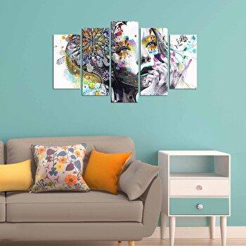 Tablou decorativ (5 Piese) Fascination, 224FSC2928, Multicolor imagine