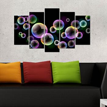 Tablou decorativ 5 Piese, Melody, 232MLD1968, Multicolor