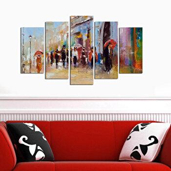 Tablou decorativ 5 Piese, Melody, 232MLD1907, Multicolor