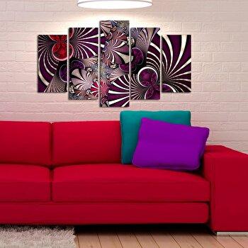 Tablou decorativ (5 Piese) Pure, 250PUR1909, Multicolor elefant