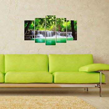 Tablou decorativ (5 Piese) Pure, 250PUR2990, Multicolor elefant