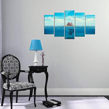Tablou decorativ (5 Piese) Pure, 250PUR2991, Multicolor imagine