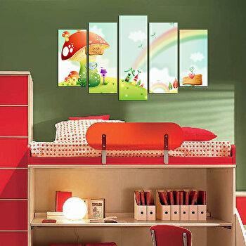 Tablou decorativ (5 Piese) Taffy, 241TFY1911, Multicolor elefant