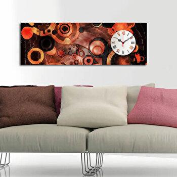 Tablou decorativ cu ceas Clockity, 248CTY1627, Multicolor elefant