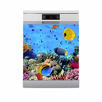 Sticker decorativ pentru masina de spalat vase Fun in Kitchen, 748FUK1450, Multicolor imagine