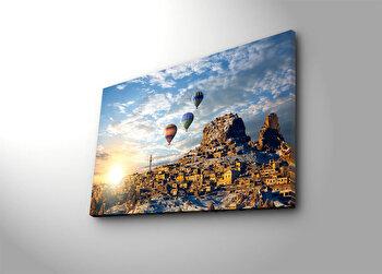 Tablou decorativ Canvart, 249CVT1320, Multicolor elefant